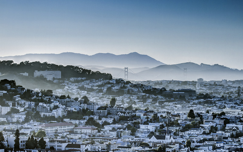 Hazy San Francisco Hills