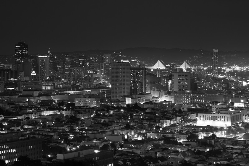 San Francisco Night BW