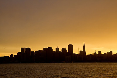 San Francisco skyline in silhouette