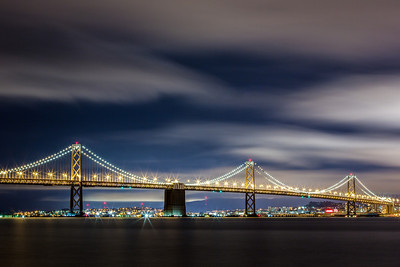 I Can't Get Enough of This City - Bay Bridge  Another one from the other night at the Treasure Island Photowalk.  Canon 5D MK III Canon 7-200mm f/4 L ISO 100 f/18 206 Seconds