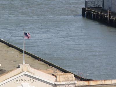 pier 19 flyin' the flag