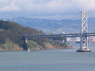 bay bridge penetrates treasure island