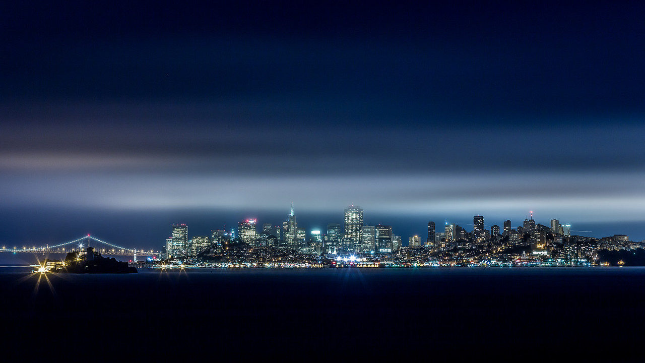*A Night In The City - San Francisco Skyline* Here is the last shot I got before we left this one abandoned area, with Scott Jarvie, Todd Sipes, Tressa Crozier, Michael Bonocore and Maximilian Laue.   http://smu.gs/NiiVyU