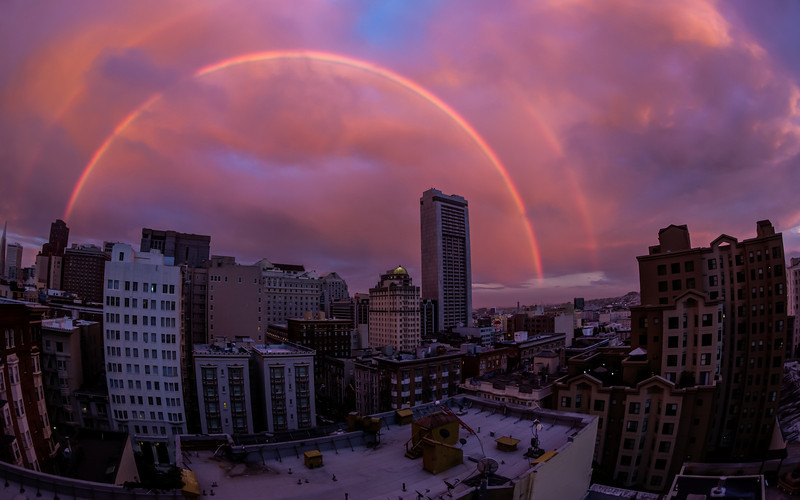 Double Rainbow Over San Francisco  September 5, 2012  First off, thanks buddy for calling me which unglued my eyes from my computer. I probably would have missed it. I instantly hung up on him though, had to get the shot.   Prints: http://smu.gs/P1pBUS