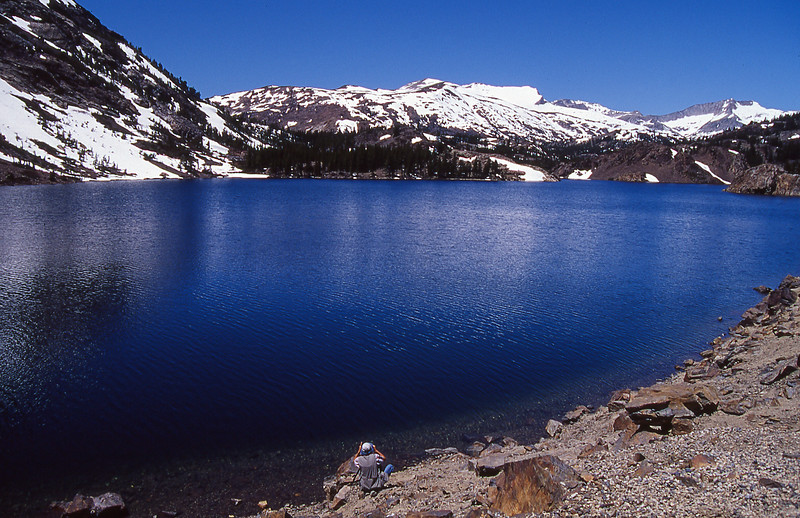 Twink photographing at Ellery lake.  Tioga Pass, California.