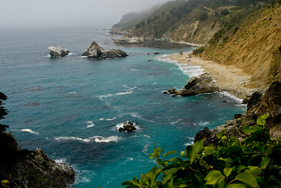 Coast overview.  Julia Pfeiffer Burns state park, California.