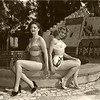 Thelma and friend at the Spiderpool - abt 1955