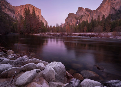 Gates of the Valley, Dusk, Yosemite National Park