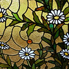 Yellow Daisy Stained Glass