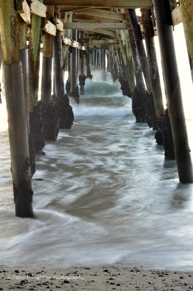 Under San Clemente pier, San Clemente, CA