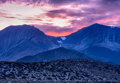 Sunset over the Mountains--Yosemite