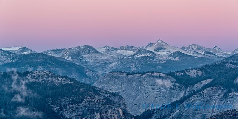 Sierra Crest, Yosemite NP, after sunset