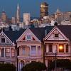 San Francisco at dusk from Alamo Square Park