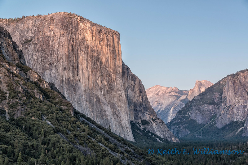 El Capitan, Yosemite Valley, after sunset
