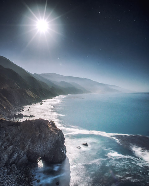 Moonlight at Big Sur