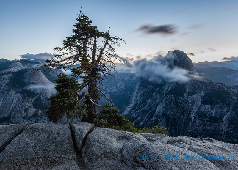 Glacier Point and Half Dome, before sunrise