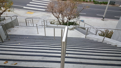 Man, those are some serious stairs - I can see how they attract skateboarders