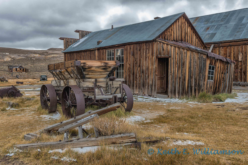 Home and Wagon, in Bodie