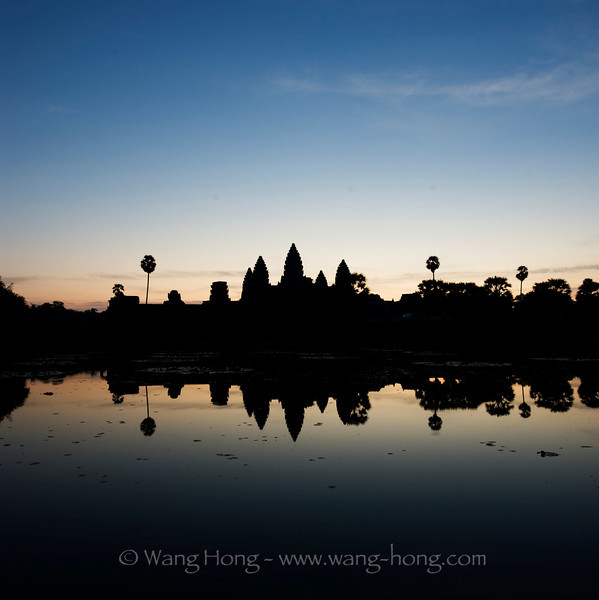 Angkor Wat, shortly before sun rise.