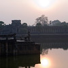 By the moat at Angkor Wat.
