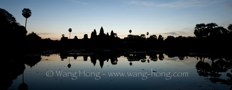 Angkor Wat, shortly before sun rise.