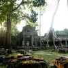 Preah Khan, east entrance. When I came to this point, I had the romantic and heroic feeling that I've discovered a lost world.