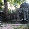 Preah Khan, east entrance.  I felt like in a dream.