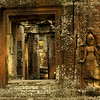 Apsara and windows at Banteay Kdei