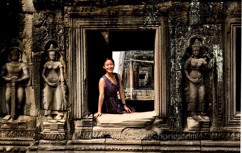 The photographer (Wang Hong) at Banteay Kdei (2011), by Ms. Lei Wang.