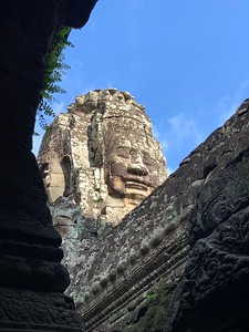 Bayon and one of it's 216 smiling faces