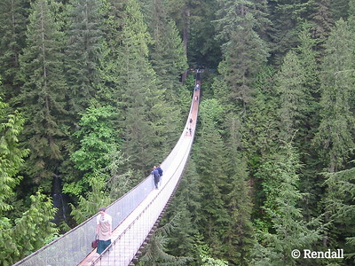 Capilano suspension bridge, Vancouver, B.C.
