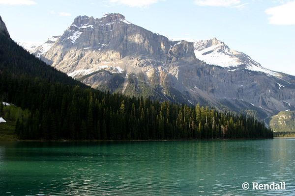Emerald Lake, B.C., with President Range peaks in background.