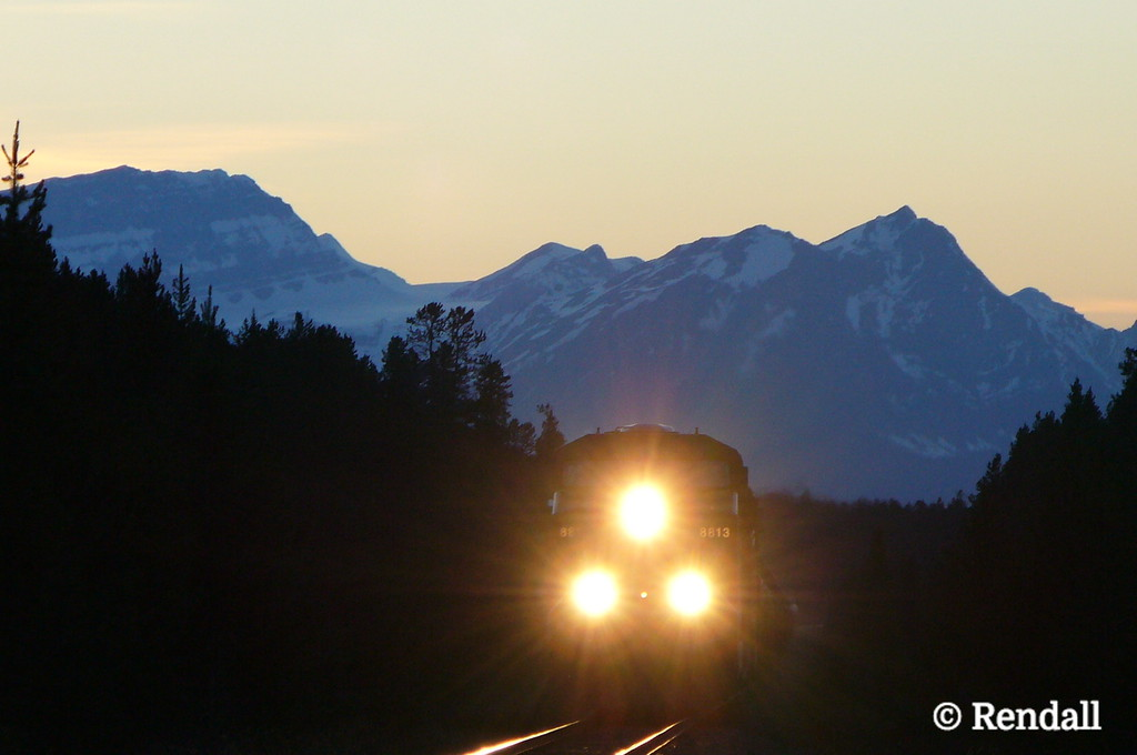 Night Train, Near Lake Louise, Alberta