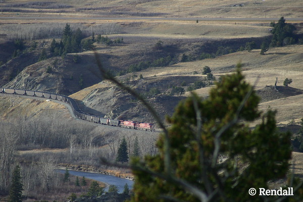 CP Rail over the Crowsnest River, Southern Alberta