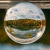 Lake under glass