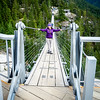 Gayle on the Rope Bridge at Sea to Sky Gondola