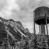Water Tower in Field, Yoho National Park