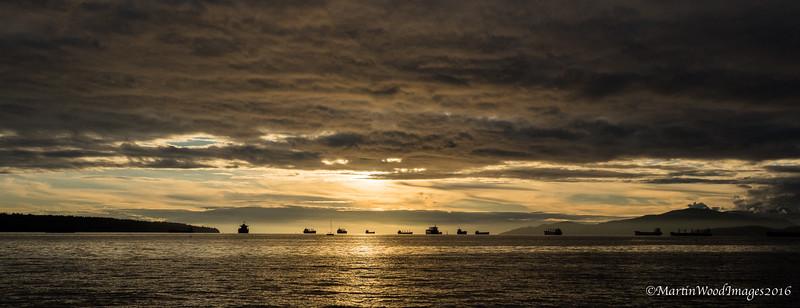 Sunset at English Bay, Vancouver, BC