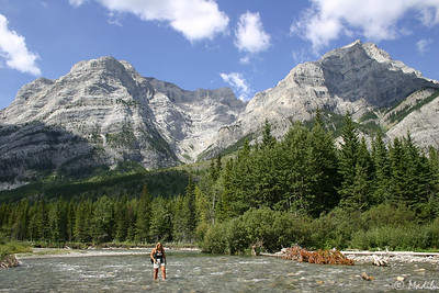 Karen and the Kidd (Mt Kidd and Kananaskis River, K-Country Alberta)