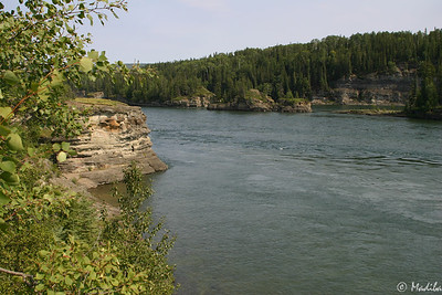 Mighty Peace River, west of Fort Saint John, B.C.
