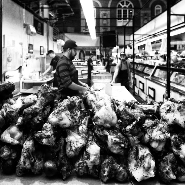 Bones on sale at the St. Lawrence Market in Toronto, Canada
