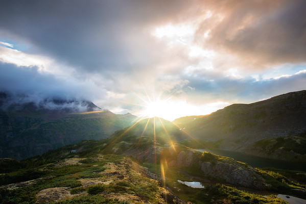 Sunrise in the Alpine Meadow