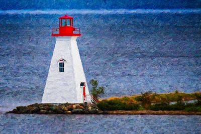 Louisbourg Lighthouse PAINTING Copyright 2021 Steve Leimberg UnSeenImages Com_U0A0108 copy