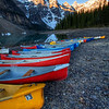 Canoes on the lakebed