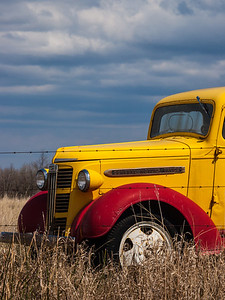 Red and Yellow Truck near Teulon