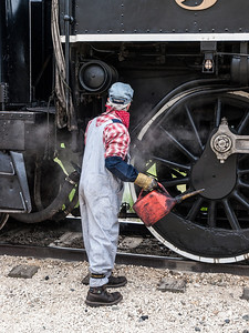 Inspecting the engine