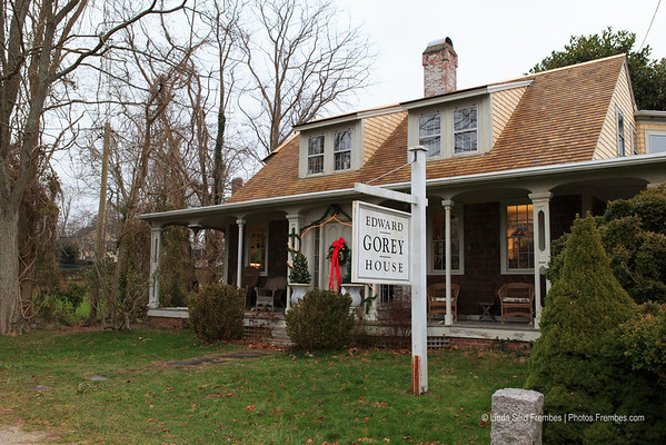 The Edward Gorey House (museum) in Yarmouth, MA. - December 2012