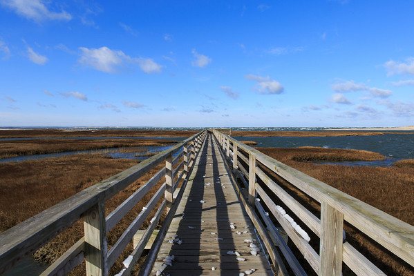 Boardwalk at Gray's Beach in Yarmouth, MA. - December 2012
