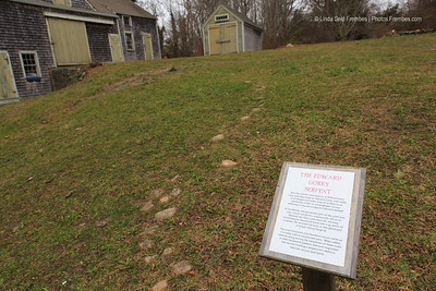 Edward Gorey laid a stone serpent in his backyard in Yarmouth, MA. - December 2012