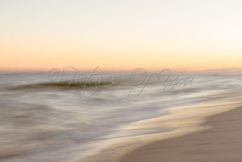 Breakwater Beach-1<br /> <br /> One of my very favorite photos that I had taken in Cape Cod. I love the softness of this image from the timed exposure and muted tonal range. Breakwater Beach sunrise (06:10 am) by Breakwater Landing in Brewster, MA.